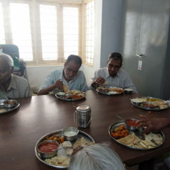 Lunch at Old Age Home